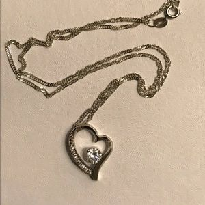 Sterling Silver Heart Pendant and chain